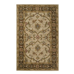 "Surya Rugs - Surya KEN1021 Kensington Classic Hand Tufted Brown Rug (5-Feet x 7-Feet 9-Inch) - 100% Wool. Style: Classic. Rugs Size: 5' x 7'9"". Note: Image may vary from actual size mentioned."