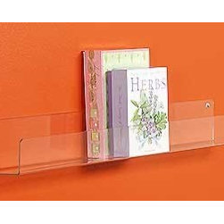 Flat Shelves - I believe the best kind of art is what happens naturally, like books in the bedroom. Use these modern and practical acrylic shelves and let your colorful covers bring the bedroom to life. I'm tempted to use these all over the house!