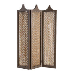 """Arteriors - Arteriors Home - Josephine Screen - DD2006 - An updated take on a Parisian 1920s antique beaded screen that reminded Barry of a wonderful costume worn by Josephine Baker. Use it to flank an open doorway or long sofa or as a dressing scrim. Elegant brown wood sides blend with gold washed beads. Features: Josephine Collection Screen Dark Walnut Wood FinishGilt Cerused Oak Bead Some Assembly Required. Dimensions: W: 20"""" x D: 2"""" x H: 84"""", per panel"""