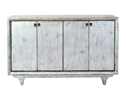 Madera Home - Mormont Gray 4 Door Tall Sideboard - Our collection of sideboards and buffets are built of beautiful Elm wood reclaimed from buildings and furniture pieces that graced the eclectic Qing dynasty. Old temple beams, barn doors, panels of once grand armories, and hand carvings from China's eclectic past have all been 'upcycled' and built into our own designs. Each piece is meticulously hand built and finished by time-honored craftsman utilizing over 120 different processes. A gorgeous addition to your dining room, stunning under your flat panel television, or the focal point of the master suite.