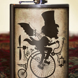 INVENTOR BIKING SILHOUETTE FLASK - 8OZ