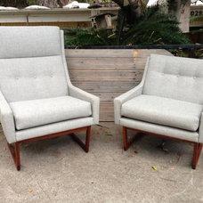 Mid Century Modern Lounge Club Chair Vintage Baughman