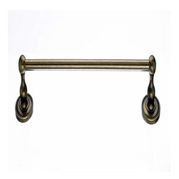 "Top Knobs - Top Knobs Edwardian 30"" Single Towel Rod Bronze Beaded Backplate - Top Knobs Edwardian 30"" Single Towel Rod Bronze Beaded Backplate"