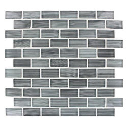 Tilesbay.com - Sample of 12x12 Blend Winter Grey Glass Tile - Winter Grey 12x12 Blend Please keep in mind that a typical size of sample is 4x4 or 6x6.