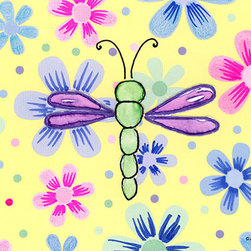 Oh How Cute Kids by Serena Bowman - Funky Flower-Dragonfly, Ready To Hang Canvas Kid's Wall Decor, 20 X 24 - Each kid is unique in his/her own way, so why shouldn't their wall decor be as well! With our extensive selection of canvas wall art for kids, from princesses to spaceships, from cowboys to traveling girls, we'll help you find that perfect piece for your special one.  Or you can fill the entire room with our imaginative art; every canvas is part of a coordinated series, an easy way to provide a complete and unified look for any room.