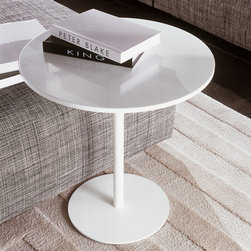 Minotti - Minotti Bellagio Corian Coffee Table - Based on the ongoing development of materials, the Billagio Coffee Tables suit any room. The Corian has a minimalistic look. Available in two sizes. The table has the choice of wearing a black or white varnished frame. Price includes shipping to the USA. Manufactured by Minotti.