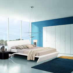 Overnice Wood High End Bedroom Furniture Sets feat. Light - Bed group with a unique lighting system and curvaceous design. To make yourself relaxed you need a good quality and comfortable bed.