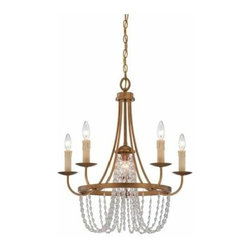 Savoy House Lighting - Abilene 6 Light Chandelier - Abilene is the epitome of timeless elegance. This Brian Thomas classic has gently cascading crystals, a warm Vintage Brass finish and Ivory Beeswax candle covers.