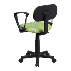 Flash Furniture - Flash Furniture Accent Chair X-GG-A-LRWS-TB - This attractive design printed office chair will liven up your classroom, dorm room, home office or child's bedroom. If you're ready to step out of the ordinary then this computer chair is for you! [BT-SWRL-A-GG]