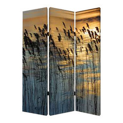 Whisper Reed Screen - Separation anxiety is a thing of the past. This relaxing screen lets you separate off a portion of your spacious room, and it's lightweight enough so you can easily move it.
