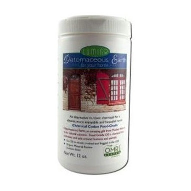 Lumino Home - Lumino Home Diatomaceous Earth - 12 Oz - Lumino Diatomaceous Earth Powder is an organic alternative to toxic chemicals for a cleaner, more enjoyable and beautiful home. Use DE as a natural deodorizer, non-toxic cleanser, nourish plants and cleanse teeth, skin and nails. Made with 100% diatomaceous earth (amorphous non-crystalline silica) is chemical free, non-toxic and safe around humans and animals. DE is Organic Material Review Institute listed, fossilized freshwater diatoms and is approved by the USDA as an additive for food storage. Lumino DE is mined, crushed and bagged in the USA.