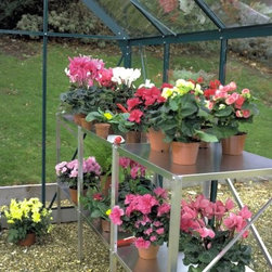 Juliana 2-Section Aluminum Staging Table - A great addition to any greenhouse, the Juliana 2-Section Aluminum Staging provides the ideal workspace inside your greenhouse. Constructed from aluminum for durability, the staging table gives you a maintenance-free work and shelving space. Measuring 39L x 22D x 32H inches, the staging table has two sections.About Juliana America LLCJuliana has been manufacturing greenhouses for the past 40 years, starting in Scandinavia. Making greenhouses that are designed to withstand the harsh weather conditions of Northern Europe, Juliana is known for its quality. The largest distributor of greenhouses in the United States, they also develop and manufactures greenhouse kits worldwide. Juliana added Juliana America in 1991.