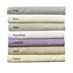 None - Rayon from Bamboo Bed Sheet Set - Sleep in luxury with these cotton bamboo bed sheets. Available in a variety of pastel hues, this bedding set includes one fitted sheet, one flat sheet and two pillow cases. Soft and breathable, this set would compliment a traditional decor.