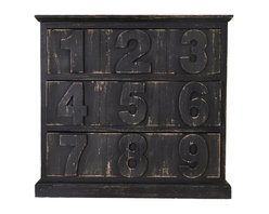 Enchante Accessories Inc - Distressed Wood Cabinet with Drawers, Distressed Black - Beautifully distressed wooden cabinet with 3 drawers. Wooden numbers on each drawer. Excellent for storing office supplies, art supplies & books.  Place on your desk for easy access to your gadgets and nicknacks. Wonderful in kids rooms and home offices. This desktop organizer keeps your stuff hidden away in style.