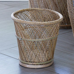 Saying Goodbye Wastecan - If you have to throw something away, why not do it in style? This striking basket-woven wastecan is unlike any other garbage receptacle: it makes your trash look like treasure.