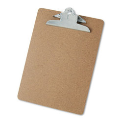 Hardboard Clipboard, Letter Size, Brown - If you like to switch out your art frequently, you could make an entire gallery wall with clipboards. I'm thinking of adding a few clipboards to show off my daughter's latest art projects.