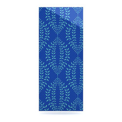 "Kess InHouse - Anneline Sophia ""Laurel Leaf Blue"" Navy Floral Metal Luxe Panel (9"" x 21"") - Our luxe KESS InHouse art panels are the perfect addition to your super fab living room, dining room, bedroom or bathroom. Heck, we have customers that have them in their sunrooms. These items are the art equivalent to flat screens. They offer a bright splash of color in a sleek and elegant way. They are available in square and rectangle sizes. Comes with a shadow mount for an even sleeker finish. By infusing the dyes of the artwork directly onto specially coated metal panels, the artwork is extremely durable and will showcase the exceptional detail. Use them together to make large art installations or showcase them individually. Our KESS InHouse Art Panels will jump off your walls. We can't wait to see what our interior design savvy clients will come up with next."
