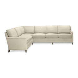 Addison Sectional - The natural brass nailheads add detail and the eight-way hand-tied steel springs ensure this sectional is well made.