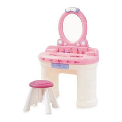 Step2 - Step2 Fantasy Vanity - The perfect place for your little princess to pretty up, this vanity has a high-quality shatterproof plastic mirror, molded-in storage compartments for make-up and beauty accessories.