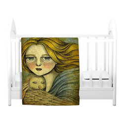 DiaNoche Designs - Throw Blanket Fleece - The Guardian - Original Artwork printed to an ultra soft fleece Blanket for a unique look and feel of your living room couch or bedroom space.  DiaNoche Designs uses images from artists all over the world to create Illuminated art, Canvas Art, Sheets, Pillows, Duvets, Blankets and many other items that you can print to.  Every purchase supports an artist!