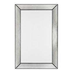 """Cooper Classics - Tompkins Frameless Rectangular Mirror - The gorgeous Tompkins mirror will make a lovely addition to any d�cor.  This beautiful frameless wall mirror features antiqued glass that will make a stylish addition to your home's d�cor Frame Dimensions: 26""""W X 36""""H; Mirror Dimensions: 26""""W X 36""""H; Finish: Frameless Mirror with Antique Glass; Material: Wood; Beveled: No; Shape: Rectangular; Weight: 29 lbs; Included: Brackets, Ready to Hang Vertically or Horizontally"""