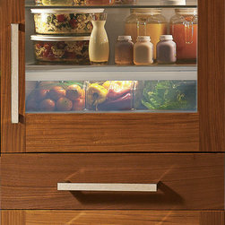 """GE Monogram 30-Inch Fully Integrated Glass-Door Refrigerator - Glass- and solid-door refrigerators in a 30"""" built-in configuration can not only be customized, but also fully and seamlessly integrated with surrounding cabinetry—the perfect answer if you're looking for a true flush fit."""