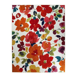 Mohawk - Country & Floral Bright Floral Toss 8'x10' Rectangle Multi Color Area Rug - The Bright Floral Toss area rug Collection offers an affordable assortment of Country & Floral stylings. Bright Floral Toss features a blend of natural Multi Color color. Machine Made of Nylon the Bright Floral Toss Collection is an intriguing compliment to any decor.