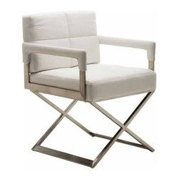 Nuevoliving - Nuevo Living Jack Dining Chair - White - HGTA646 Upholstery: White