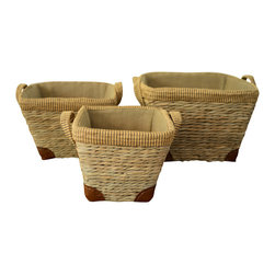 Polo Stable Basket Set of 3 - Perfect for bathroom essentials or  hearth accents; our Polo Stable Basket Set is both useful for storage and appealing to the eye. We can all use extra baskets for organization, why not make it stylish!
