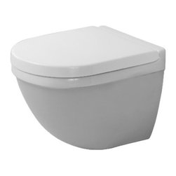 Duravit - Duravit | Starck 3 Compact Wall-Mounted Toilet With Durafix - Design by Philippe Starck.Made in Germany by Duravit.A part of the Starck 3 Collection. The stylish and comfortable design of the Starck 3 Compact Wall-Mounted Toilet With Durafix will add modern appeal to your bath space. Its compact design conserves floor space, which makes it perfect for small bathrooms. This wall hung toilet eliminates those hard to reach areas making cleaning under and around it simple.  Product Features: