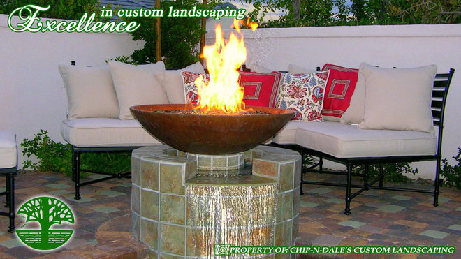 Contemporary Landscape by CHIP-N-DALE'S CUSTOM LANDSCAPING