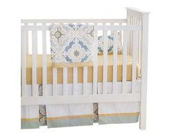 Starburst In Gold Crib Bedding Set - Starburst in Gold Crib Bedding Set 2 piece set