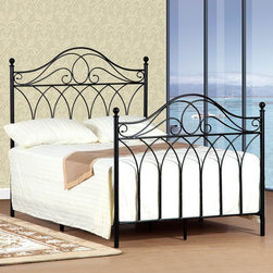 None - Queen-size Black Headboard and Footboard Set - Enhance the look of your bed with this elegant queen-size headboard and footboard set. This lovely set features a sturdy metal construction for durability,and the rails are included to make setup easy. The black finish matches any decor.