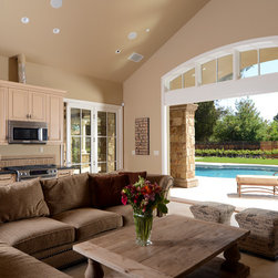 Saratoga, CA Mediterranean Pool House & Outdoor Living Area - Photography by: http://www.bgpix.net