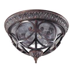 Nuvo Lighting - Nuvo Lighting 60-2057 Aston 2-Light Flush Dome with Seeded Glass - Nuvo Lighting 60-2057 Aston 2-Light Flush Dome with Seeded Glass