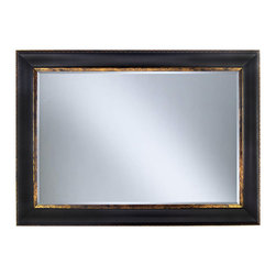 "Framed Goods - Wall Mirror 20X30 - Black Copper - Mirror Details: 20""x30""x3/16"" Thick - 1"" beveled"