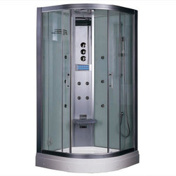 Ariel Bath - Ariel Bath DZ934F3 Ariel Platinum  DZ934F3  Steam Shower 35.5x35.5x87.5 - These fully loaded steam showers include massage jets, ceiling & handheld showerheads, chromotherapy, aromatherapy and built in radios to help maximize the therapeutic experience