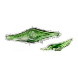 "Joshua Marshal - Green / White 31"" Small Dublin Ice Tray - Green / White 31"" Small Dublin Ice Tray"