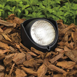Kichler - Kichler No Family Association Outdoor Spotlight in Black Material (Not Painted) - Shown in picture: In-Ground 1-Lt 12V in Black Material (Not Painted)