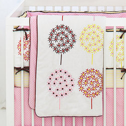 Flower Burst Crib Bedding - I like that this crib bedding from Skip Hop is fresh and modern but with a vintage-feminine twist that gives it more versatility. I could see this being equally at home in an old-fashioned Jenny Lind crib as in the latest mod creation from Oeuf.