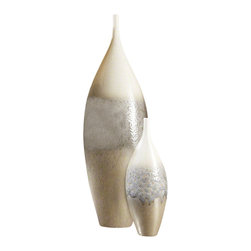 Global Views - Cream Rises Vase - Tall - Large - Subtle colors and unusal shape, makes this a must for any decor.