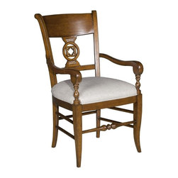 EuroLux Home - New French Provincial Side Chair Arms Aged - Product Details