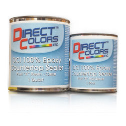 Direct Colors Inc. - DCI 100% Epoxy Countertop Sealer, 0.375 Gallon Kit - DCI 100% Epoxy Countertop Sealer 0.375 Gallon Kit Includes: 1 quart container of Part A (Resin), 1 pint container of Part B (Hardener), 3/8″ Hand-held Roller Applicator, 1 Wooden Stir Stick