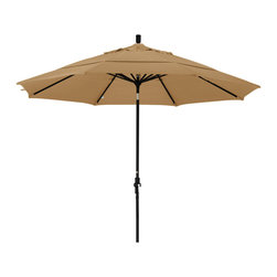 California Umbrella - 11 Foot Olefin Aluminum Crank Lift Collar Tilt Patio Umbrella, Black Pole - California Umbrella, Inc. has been producing high quality patio umbrellas and frames for over 50-year . The California Umbrella trademark is immediately recognized for its standard in engineering and innovation among all brands in the United States. As a leader in the industry, they strive to provide you with products and service that will satisfy even the most demanding consumers.