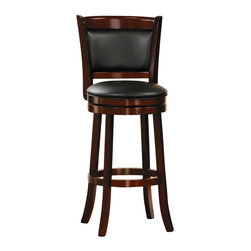 Homelegance - Homelegance Shapel Swivel Pub Chair in Cherry (Set of 2) - Homelegance - Bar Stools - 113129S - The transitional Shapel Collection adds the simple touch of style to your home's smaller dining or bar space that you've been looking for.