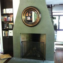 Concrete fire place surround - Concrete fireplace surround by Burco Surface & Decor
