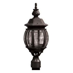 Artcraft Lighting AC8363BK Classico Black Outdoor Post Light
