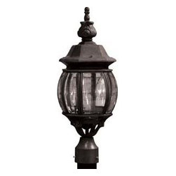 Artcraft Lighting - Artcraft Lighting AC8363BK Classico Black Outdoor Post Light - Add an accent light to your landscaping or directional lighting your driveway with a classic lamp post. Glass panels and dark hardware will create a warm glow. You'll love the way it elevates the look of your yard.
