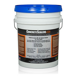 Concrete Sealers USA - TS202 Acrylic WB-30 Topical Sealer w/ Low Gloss (5 gal.) - Low VOC, Water Based Sealer & Curing Agent for Decorative Concrete, Pavers & Exposed Aggregate