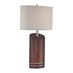 Illumine - Bedside Lamp: 1-Light 30 in. Walnut Table Lamp with Beige Fabric Shade CLI-LS-22 - Shop for Lighting & Fans at The Home Depot. The Designer Collection supplied by Commercial Lighting Industries is both modern and stylish, all while maintaining the ability to fuse together many different genres. This collection finds itself at home in many of today s popular design schemes. Whether you re looking for lamps, wall-Lighting, pendants, or novelty lamps, the Designer Collection offers a lighting solution that is sure to satisfy any of your lighting needs.